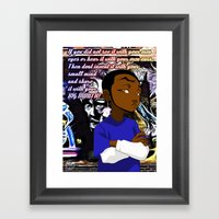 Sharing Is Not Always Ca… Framed Art Print