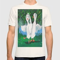 Pas De Ducks Mens Fitted Tee Natural SMALL