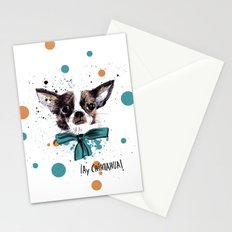 Chic Chihuahua dog Stationery Cards