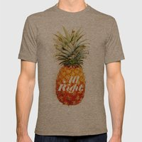 All Right. (Tropical) Mens Fitted Tee Tri-Coffee SMALL