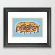 Human Sandwich Framed Art Print