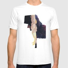 standing figure Mens Fitted Tee White SMALL