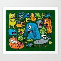 ice cream Art Prints featuring Ice Cream by Chris Piascik