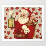 Vintage Santa Art Print