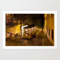 Art Print featuring Lisbon Gloria Funicular … by Kiril Stanchev