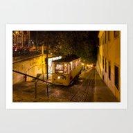 Lisbon Gloria Funicular … Art Print