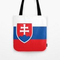 National flag of Slovakia Tote Bag