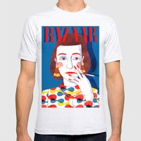 Diana Vreeland Mens Fitted Tee Ash Grey SMALL