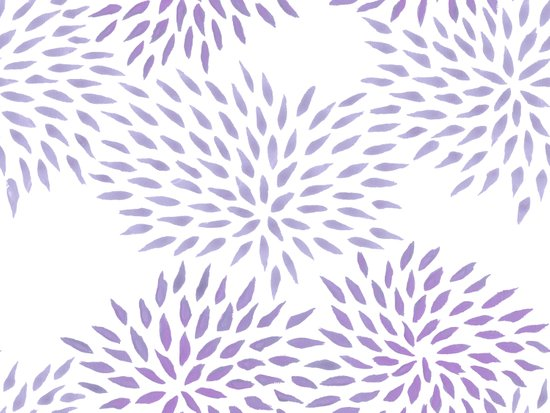 Summer Mums in lilac Art Print