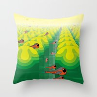 SF SolarBugs Throw Pillow