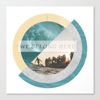 We belong Canvas Print