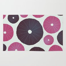Sea's Design - Urchin Skeleton (Pink & Black) Rug