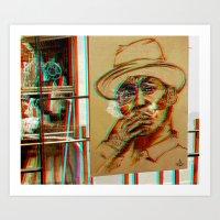 Bkk^Balkony°3dBluez Art Print