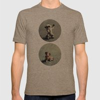 Cats & Dogs Mens Fitted Tee Tri-Coffee SMALL