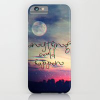 iPhone Cases featuring Anything could happen by Monika Strigel