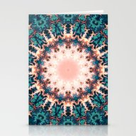 Abstract Fractal Sun Stationery Cards