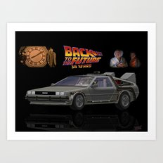 Back To The Future 30 years Art Print
