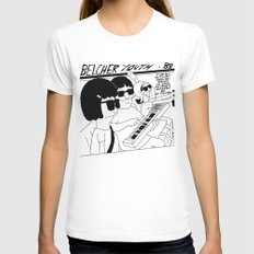 Bob's Burgers x Sonic Youth Womens Fitted Tee White SMALL