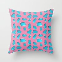 Urban Swimming pool pattern Throw Pillow
