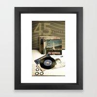 45 rpm. Framed Art Print