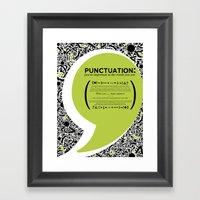 Punctuation [Appreciatio… Framed Art Print