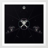 Flower In Space Art Print