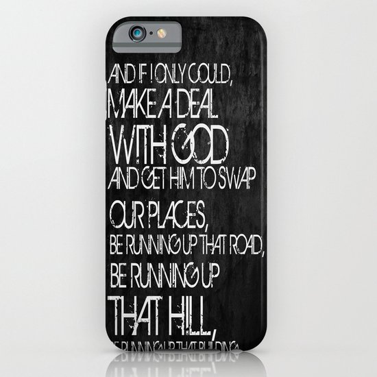 Running Up That Hill iPhone & iPod Case
