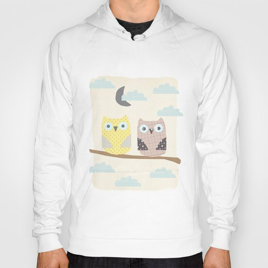 owls on a branch Hoody