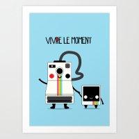 Vivre le moment Art Print
