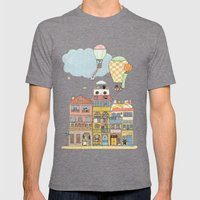 79 Cats In Harbor City Mens Fitted Tee Tri-Grey SMALL