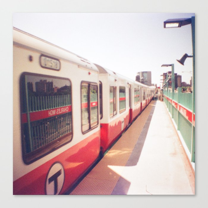 Boston Red Line Mgh Train Canvas Print By Forgotten Charm
