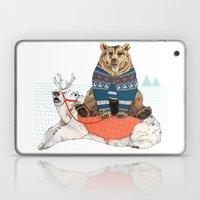 Bear Sleigh Laptop & iPad Skin