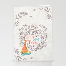 Read More Books - Fox Stationery Cards