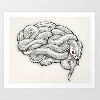 Brainsnake Art Print