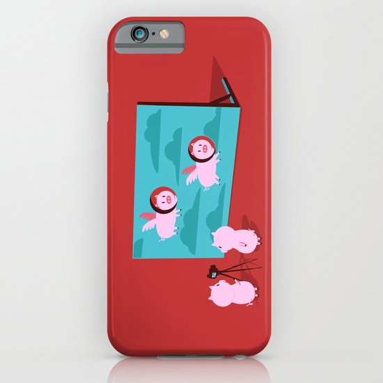 Flying pig iPhone & iPod Case