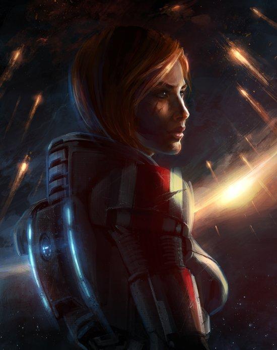 Mass Effect - Commander Shepard Art Print