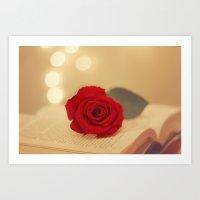 Romance Novel Art Print