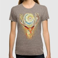 Spirit Stag Womens Fitted Tee Tri-Coffee SMALL