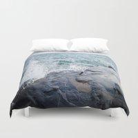 Rough waters- color  Duvet Cover