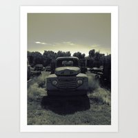 old country ford Art Print