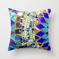 Mosaic And Beads [photog… Throw Pillow