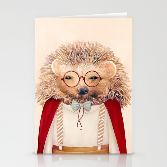 Hedgehog Stationery Card