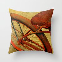 Vintage Bike Fall Home Decor Color Throw Pillow