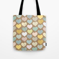 hearts pattern Tote Bag