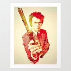 Clint Eastwood (The Fckin Man) Art Print