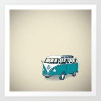VW Campervan II Art Print