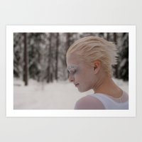 Being in white Art Print