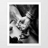 CHAINS. Art Print