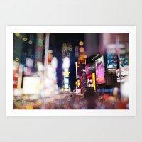 Times Square Blurrr-Bokeh Art Print