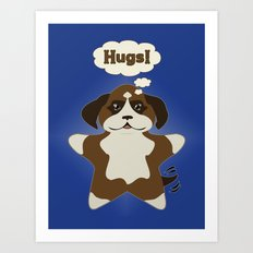 Star Dog Art Print